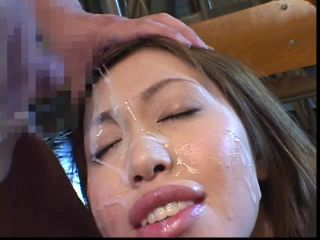 Cum on the face and mouth