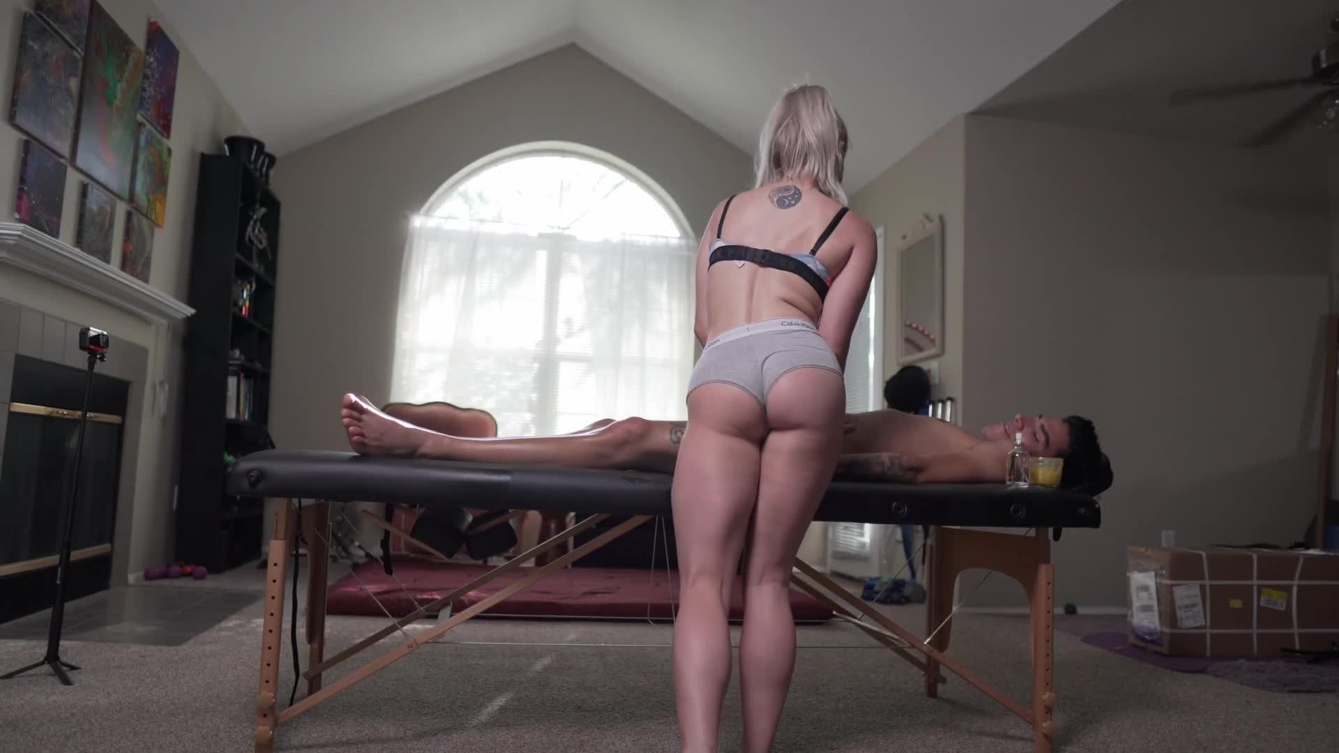 White Girl Gives Massage