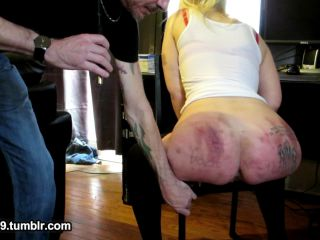 SlaveBC – Caned, spanked and throatfucked