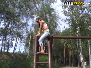 Watch my GF at the playground
