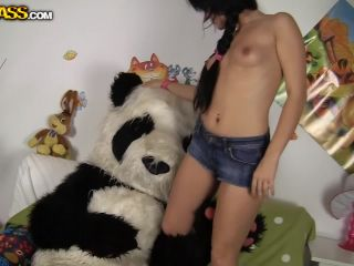 Sex With A Plush Panda - Pandas Brutal Dildo Porn Action Danna