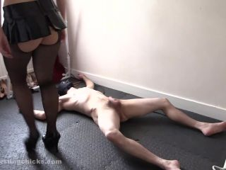 Perverts cock get hard at punishment! (Mistress Dawn)