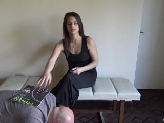 Female domination – Slave brings Mistress Indica's favorite magazine and rubs and worships her feet while she reads