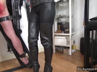 Female Domination – D L FEMDOM PRODUCTIONS – Double Crossed Whipping – Domina Liza and the Hunteress