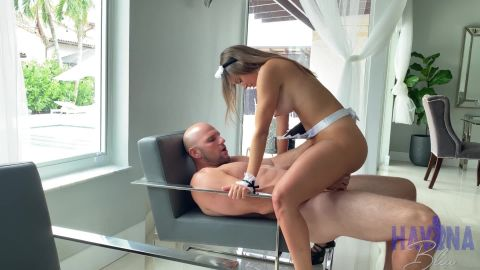 Havana Bleu - Busty Latina Maid Havana Bleu Fucks Big Dick Client For His Cum In Mouth (1080p)