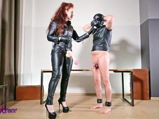 Full Leather Strap-On / Strapon (mp4 / HD) MistressLadyRenee | dildo | strap on porno fucking big ass
