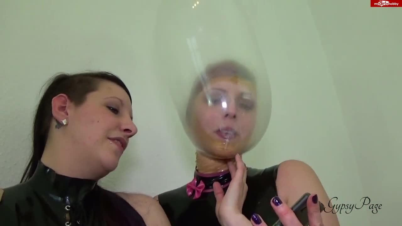 Condom breathplay