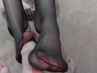 Danielle Maye XXX - Feet Fucking Cum On Tights