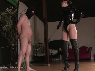 Ballkicking – Ball Busting Chicks – Kicked in the balls for squirting on my boots – Venus