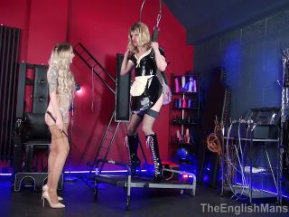 The English Mansion — Suspended In High Heels — Part 1. Starring Miss Jade Jones   Princess Aurora  anal hook  ballet boots  bondage  suspension  cock tease