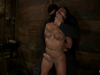 Sexy Hawaiian chick has her huge tits bound, whipped