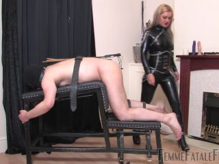 Femme Fatale Films – Caned & Smoked – Complete Film –  Mistress Athena  – Birching, Rubber on fetish porn femdom empire pegging
