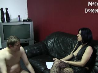 Spanking – Merciless Dominas – Interview And Caning With Slave Radec – Madam Caramelle