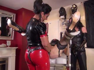 kinky mistresses  goddess ezada sinn  anal slut on the gyn chair  mistress