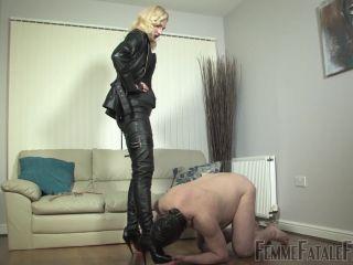Boot Worship – Femme Fatale Films – At Akella's Service – Complete Film – Mistress Akella