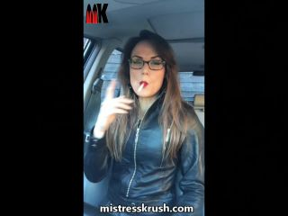 Mistress Krush's Clips Store — Smoking in leather