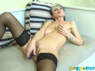 IvaB - Wonderful old lady in panyhose fingering her pussy FullHD