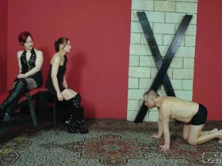 Elegant Femdom – CRUEL PUNISHMENTS – SEVERE FEMDOM – Slaps as motivation – Mistress Anette and Lady Maggie