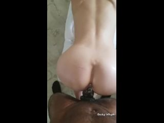 G07852 Becky Cum Covered Hard Bbc Is Cock Slave To White Gi