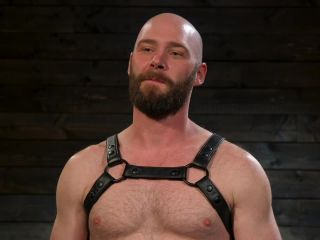 harmony fetish toys | Tall Stud Hunter Samson Tormented with Rope Bondage and Orgasm Denial | leather glove
