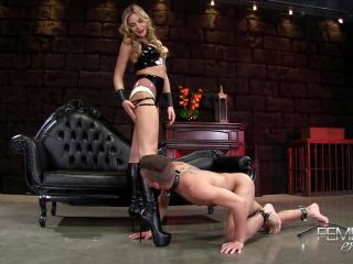 VICIOUS FEMDOM EMPIRE  Amazonian Boot Cleaning  Starring Mistress Blair