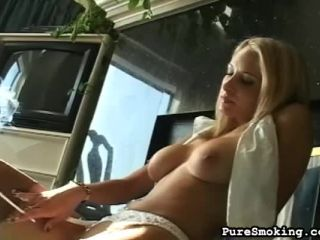 Lana Plays Hooky To Smoke And Masturbate Just For You