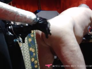 French Goddess fucks her slave by a fist and giant strapon