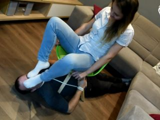 Czech Soles — Tied up and forced to smell Megan's socks