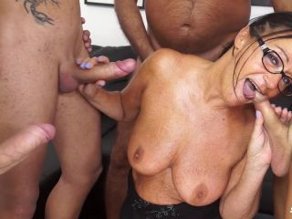 ScambistiMaturi presents Italian orgy features brunette mature amateur fucked by four young cocks – 05.03.2018