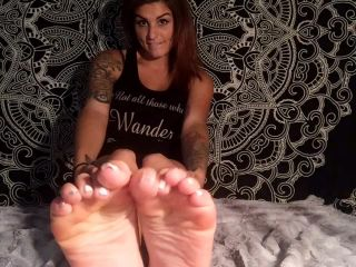 Soles fetish – Natalie Fox – Joi/ Self Worship (White Pedi)