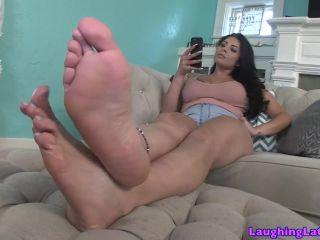 jasmine new footboy  licking feet