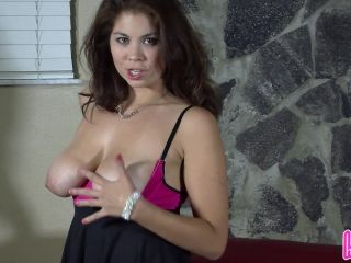 Mean Humiliatrix Princess Mylee Taunts Your Tiny Cock with Her Big Boobs