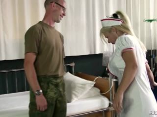Female Nurse MILF Fuck the Young Boy at Military Checkup German