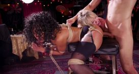 Aiden Starr, Kira Noir, Penny Pax - BDSM Swinger Orgy Served by the Anal Servant Girls