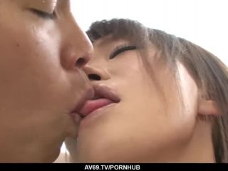 Porn Kana mimura ends up throating and fucking with two