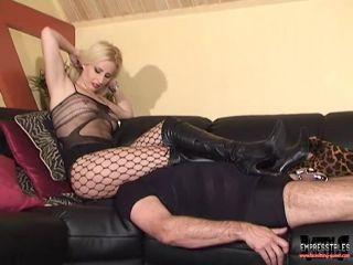 Masturbation – MISTRESS KELLY KALASHNIK – Chastity slave thinks he can cum