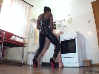 Kinky Mistresses - Mistress Kiana - Fucked In The Kitchen - strap on fucking on strap on