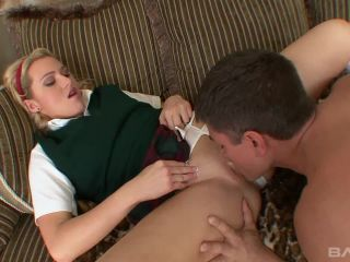 Blonde Schoolgirl Ruby Rider Sucks And Fucks And Gets A Cum Facial