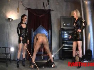 High Heels – Cybill Troy FemDom Anti-Sex League – Caned In The Stocks – Princess Seva and Cybill Troy