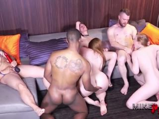 Hottest Orgy bi males and bi females, MTF and FTM shemales suck and f ...