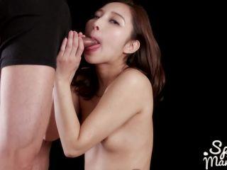 SpermMania presents Uika Hoshikawa Strokes with Cum, handjob on handjob porn