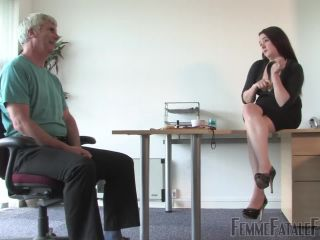 FemmeFataleFilms: Governess Ely - Humiliated In The Office - Part 1   spank   fetish porn tall japanese femdom