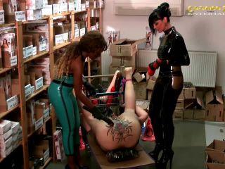 Dildo Fucking – Carmen Rivera – Two mistress monster strapon domination to slave in sexshop