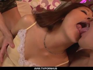 Premium bma aoi enjoys dick in both pussy and