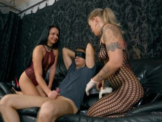 Two Kinky Girls  - fishnet clothing - femdom porn primal fetish porn