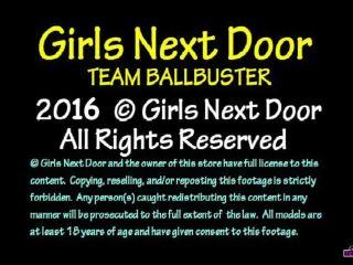 Girls Next Door: TEAM BALLBUSTER – Aphrodite the Ball Trampling Goddess
