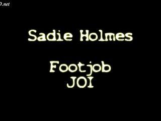 Online Tube Sadie Holmes Footjob JOI - handjob and footjob
