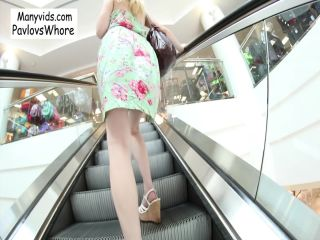 ManyVids presents Cloe Palmer – Pavlovswhore in Public Oral & Cum Walk at the Mall
