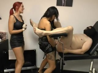 Lady Xenia and friend punish anal slave with a huge strapon