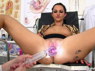 old and young - FreakyDoctor presents Selina (Salina) in 23 years girls gyno exam